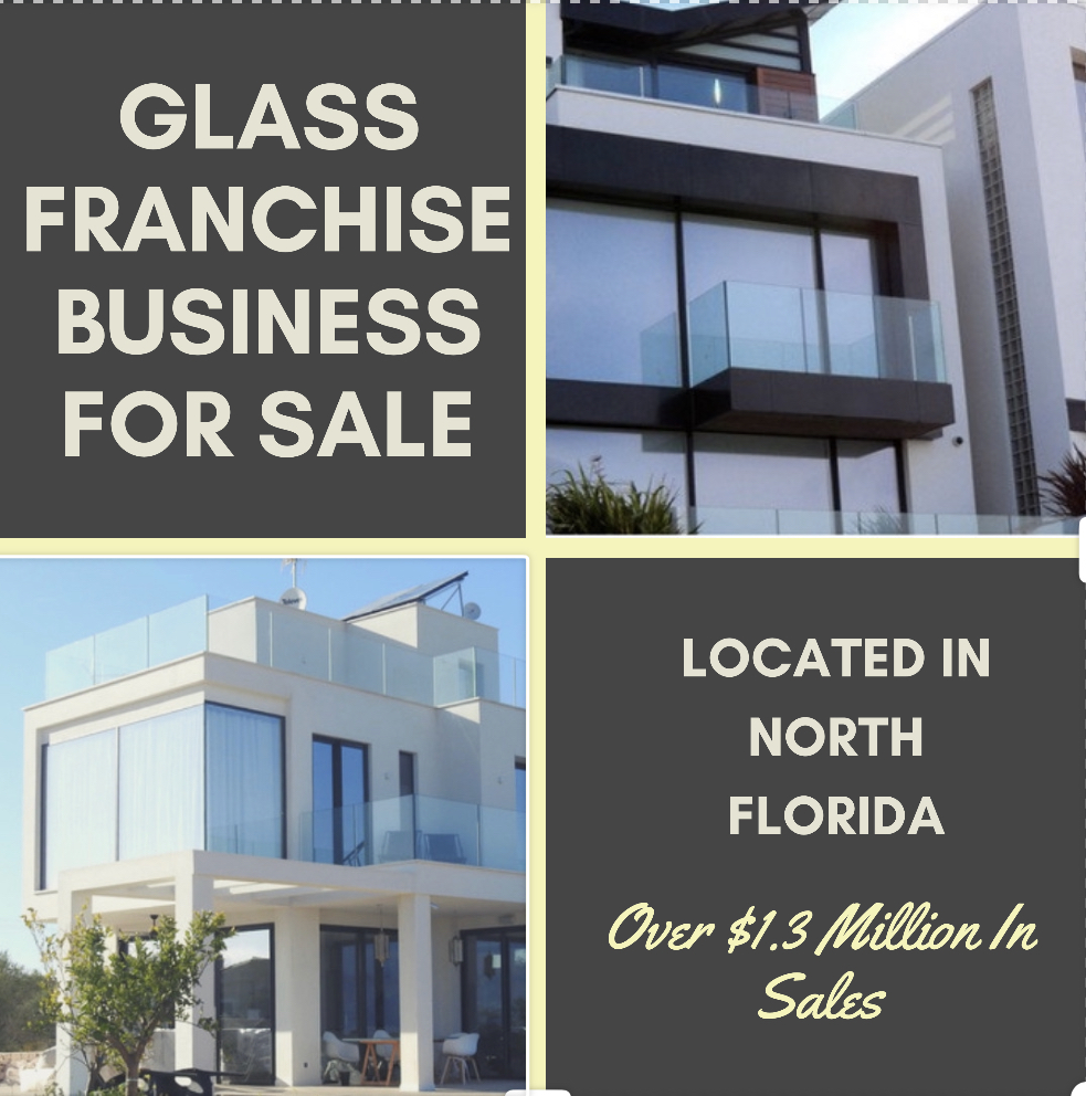 Well-known Absentee-owned Glass Franchise Business For Sale in Jacksonville, Florida.