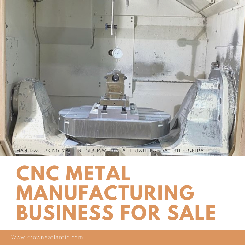 CNC Manufacturing Machine Shop Business for Sale in Florida